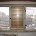 Intérierová strana velkého okna
