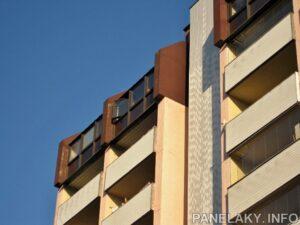 Detail bytoateliérových stěn