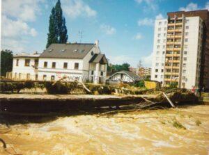 Nízké Opavské VP-OS zachycené při povodních v roce 1997 [4]