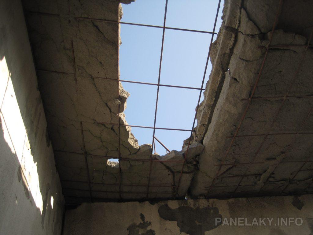 Střecha budky strojovny výtahu