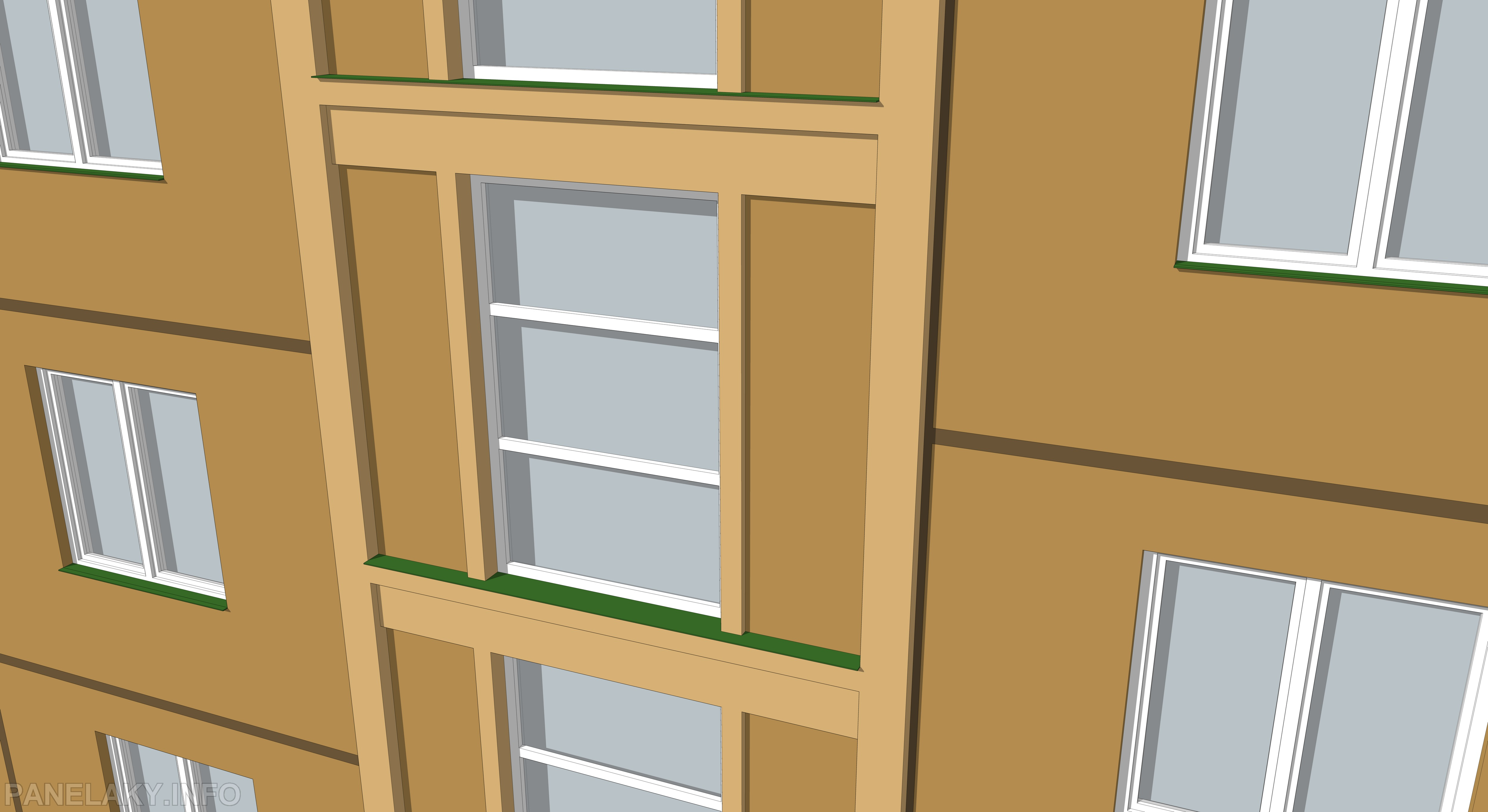 Detail chodbových oken ve správném provedení